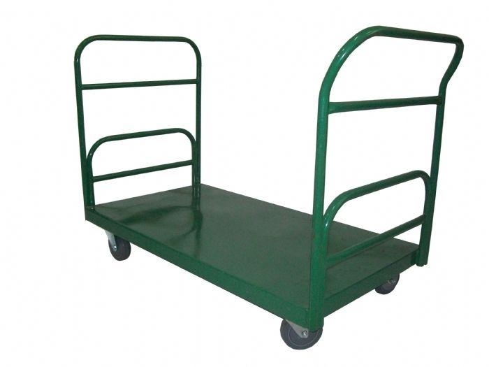 Carrinho Plataforma - Capac.500kg - Tamanho área carga Larg 64cm Compr.1,05mt