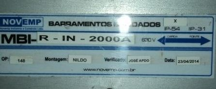BARRAMENTO BLINDADO - BUSWAY - IDENTIFICAÇÃO