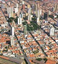 Foto aérea do centro de limeira
