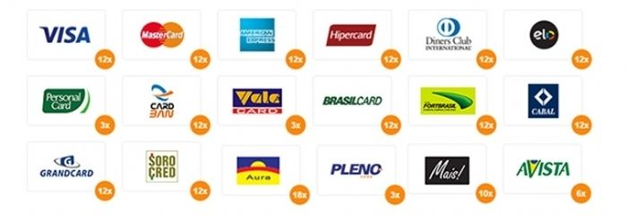 Cartões aceito pelo site,presencial somente VISA ou MASTER