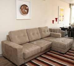 sofá chaise 2,00 x 1.50 em tecido sued preço, R$ 1.400,00