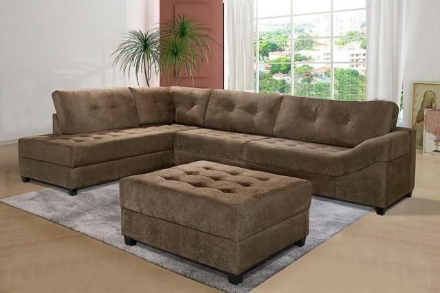 sofa canto com puf medida 2,80x2,20
