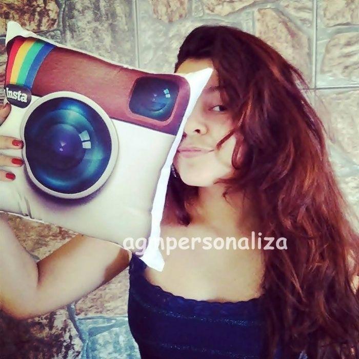 Almofadas 30x30 logo Instagram